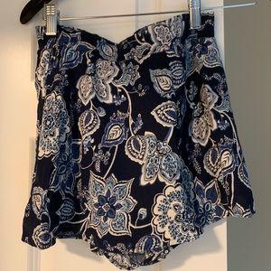 Aqua high waist shorts